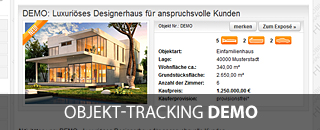 Demo-Zugang zum Objekt-Tracking